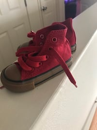 toddler's red-and-white lace-up shoes Hampton, 23665