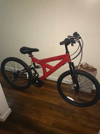 "BLack and Red mountain bicycle 24"" New York, 10468"