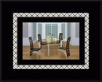 Glass dining table with 4 chairs Bowie
