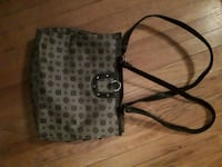 gray and black leather tote bag Calgary, T2T 1Y5