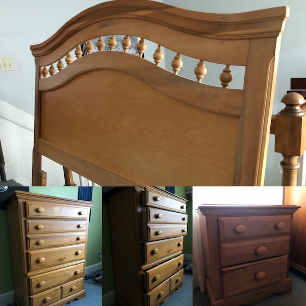 Used Brown Wooden Dresser And Headboard For Sale In Suwanee Letgo