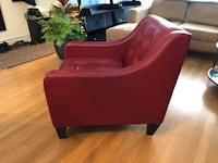 Red leather occasional chair  Toronto, M4J 1W9