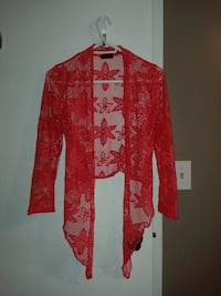 red and white floral long-sleeved dress Niagara Falls, L2G 7M6