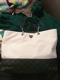 women's white and green leather tote bag Kansas City, 64137