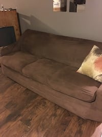Brown couch- removable cover