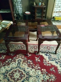 Table red oak with end tables 88 km
