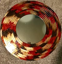 Large Mosaic Tile Mirror - reds and golds Englewood, 45315