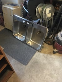 Double stainless sink Caledon, L7C