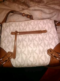 white and brown Michael Kors leather tote bag Redding, 96002
