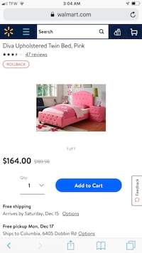 Pink Upholstered Bed (Diva) 66 km