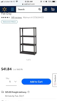 Plastic shelf unit 4 shelf