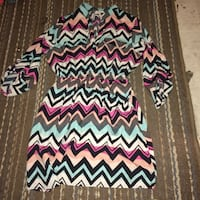 pink, blue, and white chevron dress Winnipeg, R3A