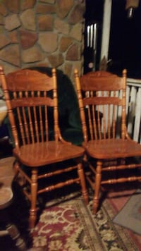 two brown wooden windsor chairs Rossville, 30741