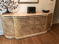 Beautiful lacquer Dining room table and buffet seats 12-14 set 6 chairs Princeton, 08540