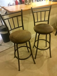 two black metal framed brown padded chairs Arlington, 22201