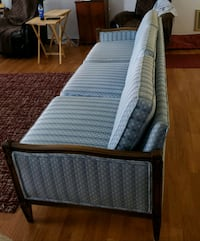 blue and white striped bed frame 786 mi