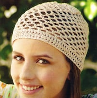 Women's white and black knit cap Mesquite, 75149