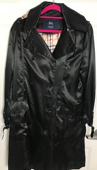 100%Authentic Burberry London Satin Trench Black XLARGE Classic! Guyton, 31312