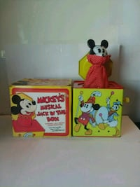 Vintage Mickey Musical Jack in the Box