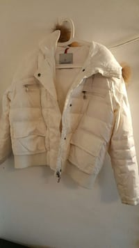 giacca bianca con zip-up