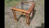 Bamboo style glass night stand ( end table ) Oklahoma City, 73119