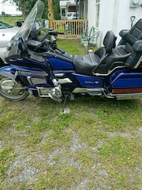 blue and black touring motorcycle Winchester, 22602