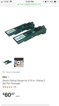 PAC Gecko Siding Gauge for 5/16 in. HardiePlank fiber cement siding  Bethesda, 20817