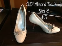 Nine West off white heels size 8 Calgary, T2J 6C4