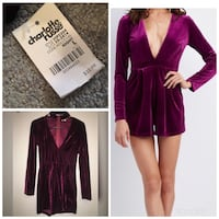 Charlotte Russe Plunging Neckline Romper Size Large. Available on poshmark @tmoseller Rutherford, 07070