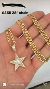gold-colored chain necklace Kitchener, N2B 3H5