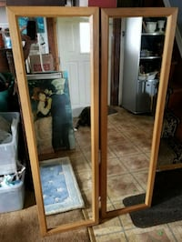 """Pair of like new wall mirrors, 48""""×12"""" Middleport, 14105"""