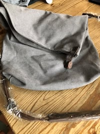 Brand new grey canvas messenger bag