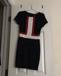 FOREVER21 S SMALL NAVY BLUE RED AND WHITE STRIPED DRESS Indian Head, 20640