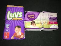 Luvs and Parent's Choice diaper packs Visalia, 93292