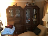 Wall unit from Belgium with lights and drop down bar