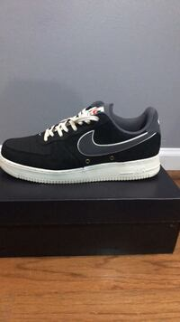 A pair of black and grey nike air force 1 low Hoover, 35226