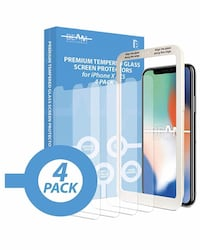 Tempered Glass Screen Protector for iPhone X / XS / 11 Pro (4 Pack)