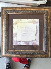 """Beautiful Framed Print Titled """"Love is Patient """" 1 Corinthians 13:4, 14x14  Peoria, 85373"""