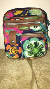 black, pink, and green floral crossbody bag Brandywine, 20613