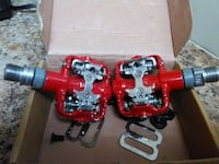 pair of red-and-gray bicycle pedals New York, 11354