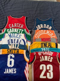 NBA BASKETBALL JERSEY LOT