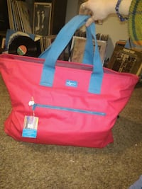 Mb greene pink and blue large tote