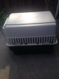 White and black pet carrier Chicago, 60655
