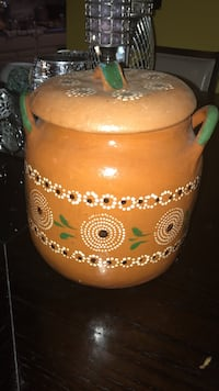 brown and green floral clay pot Alexandria, 22306