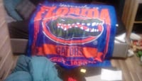 blue and orange Florida gators blanket,very and when I say very I mean very comfortable!