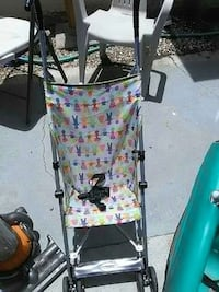 gray, white, pink, purple, and green umbrella stroller Bakersfield, 93308