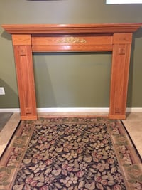 Oak Fireplace Surround  null