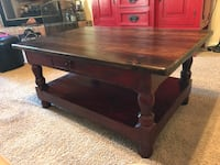 Lorec Ranch Deep Red & Brown Coffee Table Luther, 73054