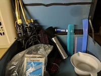 Hair stylist equipment. Combs brushes curling irons Spotswood, 08884