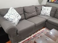 gray fabric 3-seat sofa Sterling, 20164